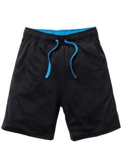 Funktionssporthose, bpc bonprix collection, schwarz/capriblau