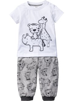 Baby T-Shirt + Shirthose (2-tlg. Set) Bio-Baumwolle, bpc bonprix collection