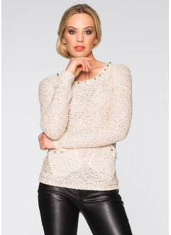 Pullover, BODYFLIRT boutique, gold/beige
