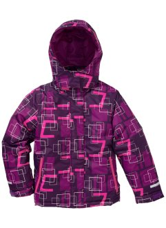 Skijacke, bpc bonprix collection, dunkellila/pfingstrose/neonpink