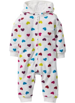 Baby Sweat Overall Bio-Baumwolle, bpc bonprix collection, wollweiss