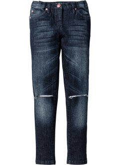 Super Skinny Jeans mit Destroyed-Effekten, John Baner JEANSWEAR, dark denim
