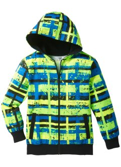 Sweatjacke, bpc bonprix collection, allover neongelb/neongrün