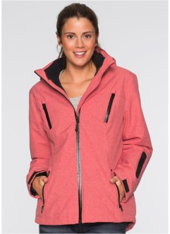 3-in-1-Outdoorjacke, bpc bonprix collection, rot meliert