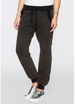 Sweat-Hose mit Pailletten im relaxed fit, RAINBOW, batik grau