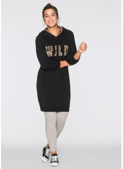 Robe sweat-shirt, bpc bonprix collection, léopard/noir