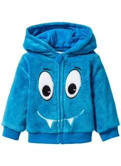 Baby Teddy-Fleece-Jacke, bpc bonprix collection, capriblau