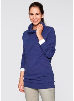 Long-Sweatshirt, bpc bonprix collection, mitternachtsblau