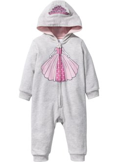 Baby Sweat Overall Bio-Baumwolle, bpc bonprix collection, naturmeliert
