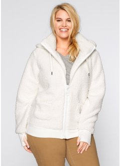 Basic Fleece-Jacke, bpc bonprix collection, dunkelblau