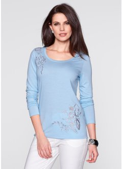 Langarm-Shirt, bpc selection, eisblau