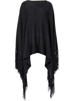 Poncho mit extra langen Fransen, bpc bonprix collection