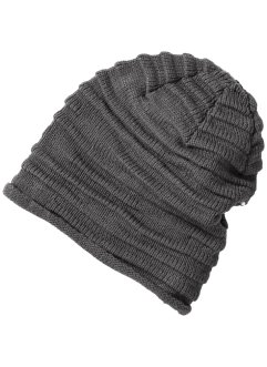 geraffte Beanie uni, bpc bonprix collection, grau
