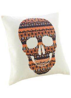 "Kissenbezug ""Totenkopf"", bpc living, creme/orange"