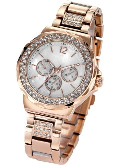 "Armbanduhr ""Tiara"" in Chrono-Optik, bpc bonprix collection, rosegold"