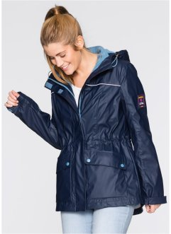 Gummierte 3-in-1-Outdoorjacke, bpc bonprix collection, dunkelblau