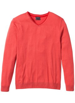 V-Pullover mit Kaschmir Regular Fit, bpc selection, hummer