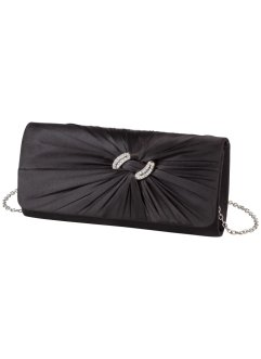Clutch mit Strass, bpc bonprix collection, schwarz