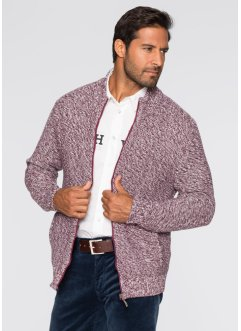 Strickjacke Regular Fit, bpc selection, ahornrot meliert