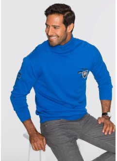 Rollkragenpullover Regular Fit, bpc selection, azurblau