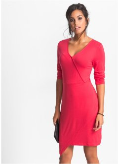 Jersey Kleid in Wickeloptik, BODYFLIRT, rot