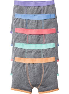 Lot de 5 boxers, bpc bonprix collection, gris chiné/pastel