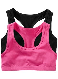 Bustier (2er-Pack), bpc bonprix collection, pink/schwarz