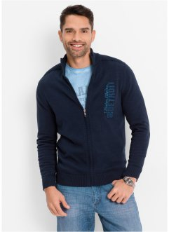 Strickjacke Regular Fit, bpc bonprix collection, hellgrau meliert