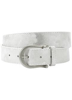 Ceinture basique Metallic, bpc bonprix collection, blanc
