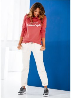 Sweatshirt, bpc bonprix collection, koralle bedruckt