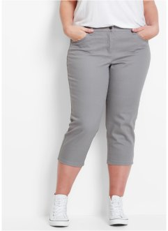 Pantalon extensible 3/4 en twill structuré, bpc bonprix collection