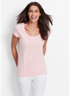 T-shirt manches courtes extensible, bpc bonprix collection, rose nacré