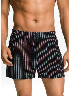 Lockere Boxer (3er-Pack), bpc bonprix collection, schwarz gemustert