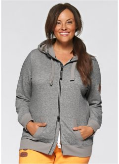 Sweatjacke, bpc bonprix collection, grau meliert