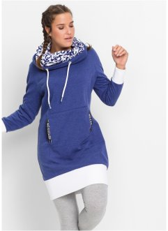 Sweatkleid, langarm, bpc bonprix collection, mitternachtsblau