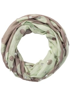 Loop mit Metallic-Details, bpc bonprix collection, mint/taupe