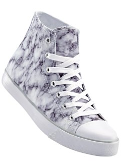Sneaker high, bpc bonprix collection, weiss marmoriert