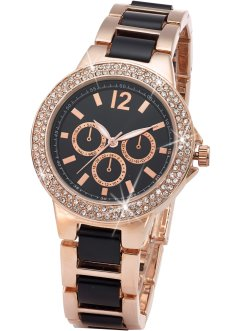 Montre bracelet métal bicolore style chrono, bpc bonprix collection