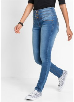 "Jean power stretch ""ventre plat slim"", John Baner JEANSWEAR, bleu"