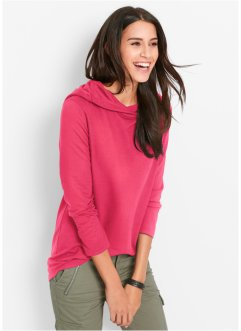 Sweatshirt, Langarm, bpc bonprix collection, hibiskuspink