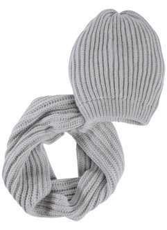 2-tlg. Set Beanie und Loop, bpc bonprix collection