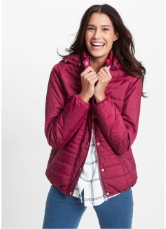 Wattierte Steppjacke, bpc bonprix collection, beerenrot