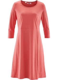 Robe manches 3/4, bpc bonprix collection, corail