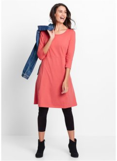 Shirt-Kleid, 3/4-Arm, bpc bonprix collection, koralle