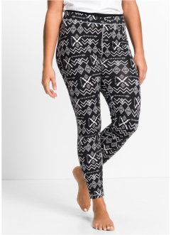 Funktions-Leggings, lang, bpc bonprix collection, schwarz gemustert