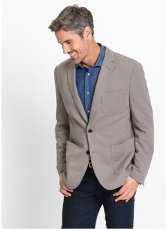 Struktur-Sakko Slim Fit, bpc selection, grau
