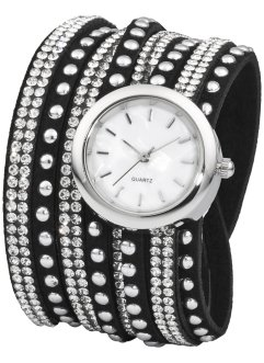 Montre double tour avec strass brillants, bpc bonprix collection