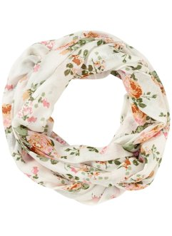 "Loop ""Blümchen"", bpc bonprix collection, creme"