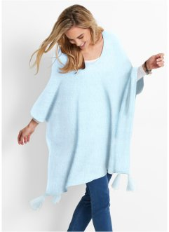 Poncho-Pullover, bpc bonprix collection, polarmint meliert