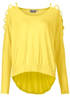Shirtbluse mit Cut-Outs, RAINBOW, limone